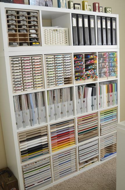 Paper craft storage and organization idea