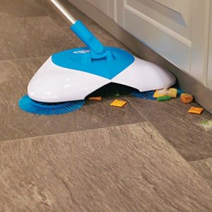 This cordless floor sweeper features a built in dust pan. This make sweeping your floors so much easier!