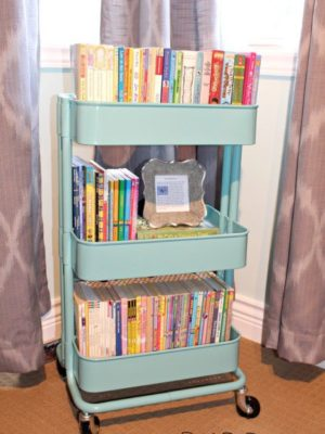 Well, how nice is this. A mobile book cart for your home!