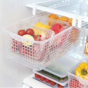 Install pull-out bins in your fridge for additional storage.