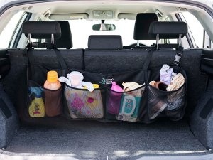 Use this behind the seat organizer for items in the trunk of your SUV