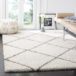 This shag carpet will instantly make your living room feel cozier, Yes!