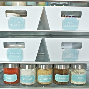 Place your salsa and dips in labeled glass containers.