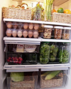 I love how neat and organized this fridge is!