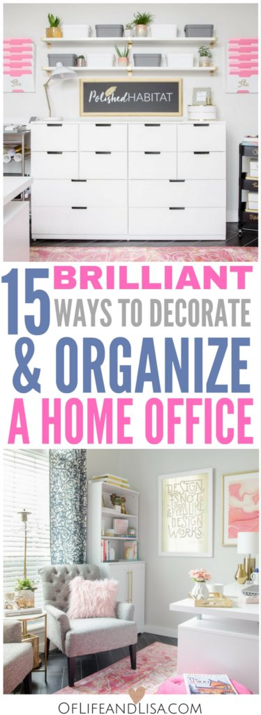 You will love these home office decor and organizations ideas. Come get inspired!