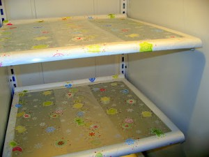Use Press N' Seal to cover your refrigerator shelves and to make cleaning up super easy.