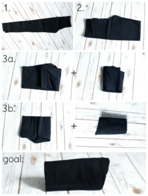 The KonMari Method Pants Folding 512x680 e1501445355708 - 10 Genius Ways to Fold Your Clothes and Save a Ton of Space
