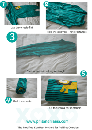Here's how to fold your baby's long-sleeved onesies. Pin to your followers! They will love this idea.