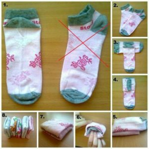 Here's a simple way to fold you socks to save space. Pin this to your followers!