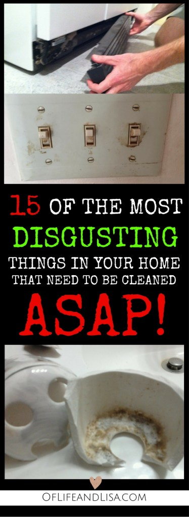 15 disgusting places in your home that you need to clean right away. Check out this post to learn where and how to find hidden filth.