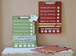 Make a back to school chore chart to help the kiddos stay on track. I love this idea. Repinning for later.