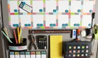 I love this back to school command center. The kids will be so organized! Repin!