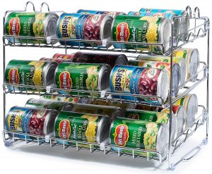 I can not wait to organize my kitchen cabinets with this stackable can organizer. Pin if you agree!