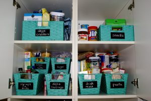 Use chalkboard labels to organize your pantry bins.