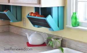 Make Your Own Under Cabinet Storage Bins For Your Fruit.