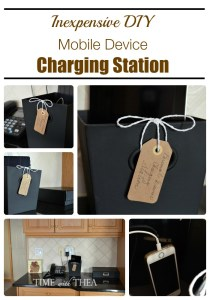 Make your own hidden charging station with a dollar store bin. Repin if you want to try this later!