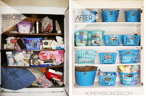 I love this dollar store closet makeover! Repin if you want to try this!