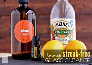 I love this homemade glass cleaner made with vinegar and lemon. My windows are so clean now. Repin!