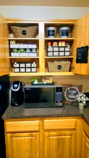 My kitchen cabinet makeover reveal.