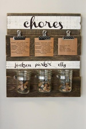 Make a mason jar chore organizer for the kids. Repin!