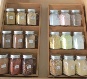 Organize your spices using mason jars. Repin if you think this is a cool idea!