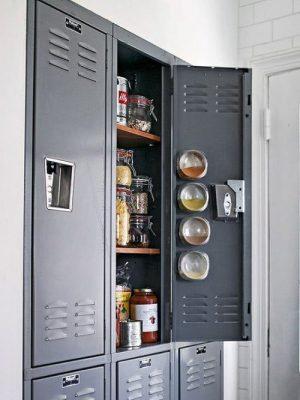 Use a simple locker to add kitchen storage space.
