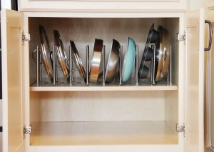 My pot lids are so organized. So glad I found this kitchen organizer. Your followers will love this organizer! Pinned!