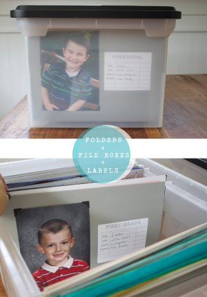 Organize your kids papers and other awards throughout the school year using file folders. Repin if you want to try this!