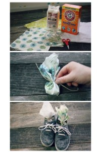 Make your own shoe deodorizer to get rid of bad smells in shoes. Repin!
