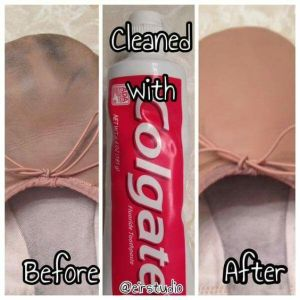 Use plain white toothpaste to clean your leather shoes. Repin!
