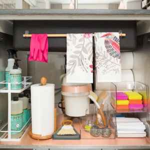 Be inspired to organize and declutter underneath your sink with these brilliant ideas