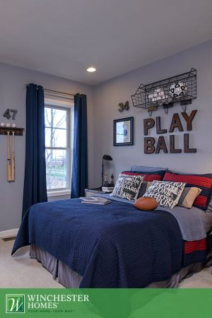 love this neat and organized boys room. Repin for later!