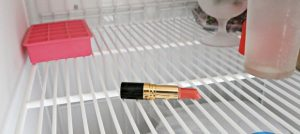 Put your lipstick in the freezer to disinfect it.