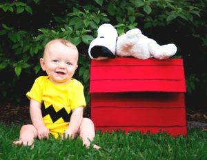 Charlie brown diy halloween costume for babies.