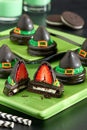 Halloween food idea- Oreo Witch Hats!