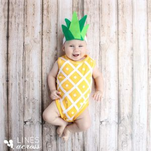 No sew pineapple baby halloween costume. Repin for later!