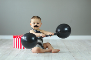 Vintage body builder baby costume for halloween. Repin this!