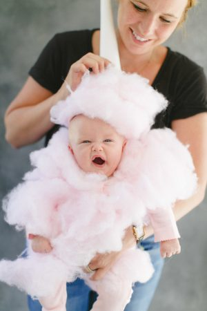 Cotton candy baby halloween costume. Repin for later! Love this.