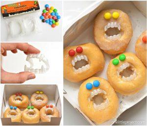 Halloween food idea!- Monster Donuts