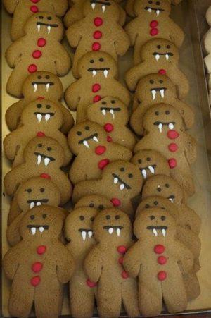 Halloween Food Ideas- Vampire Gingerbread cookies