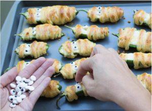 Halloweeen food idea- Jalapeno poppers!