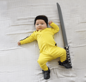 Diy Kill Bill Halloween Costume for Babies. Love this!