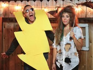 Lightening and thunder couples costume for Halloween! OMG! Repin