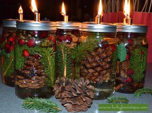 Make your own mason jar candles to make your home smell like christmas!