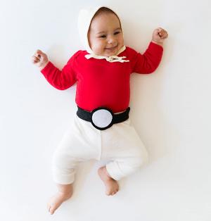 Pokeball diy baby halloween costume. Love this idea! Repin!