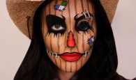 Scarecrow halloween makeup idea. I love this! Repin for later.