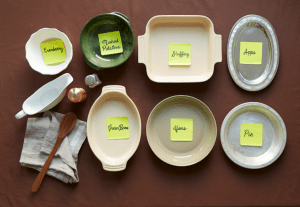 Thanksgiving Hack: Label all pots and pans the day prior to cooking. This will help you stay organized in the kitchen.