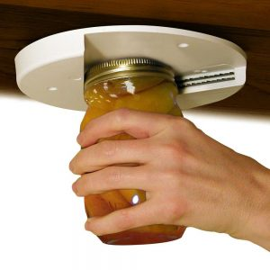 A jar opener for those lids that are too tight. Perfect for those with arthritis.