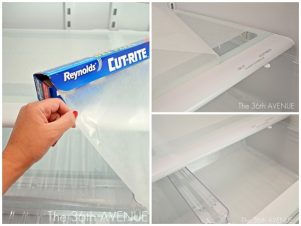 Use wax paper to line your refrigerator shelves to keep them clean !