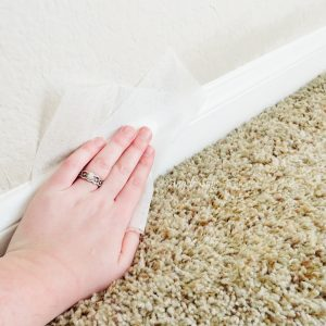 Clean your baseboard with a dryer sheet to repel dust.